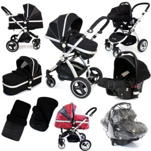 i-safe-system-black-grey-travel-system-pram-luxury-stroller-3-in-1